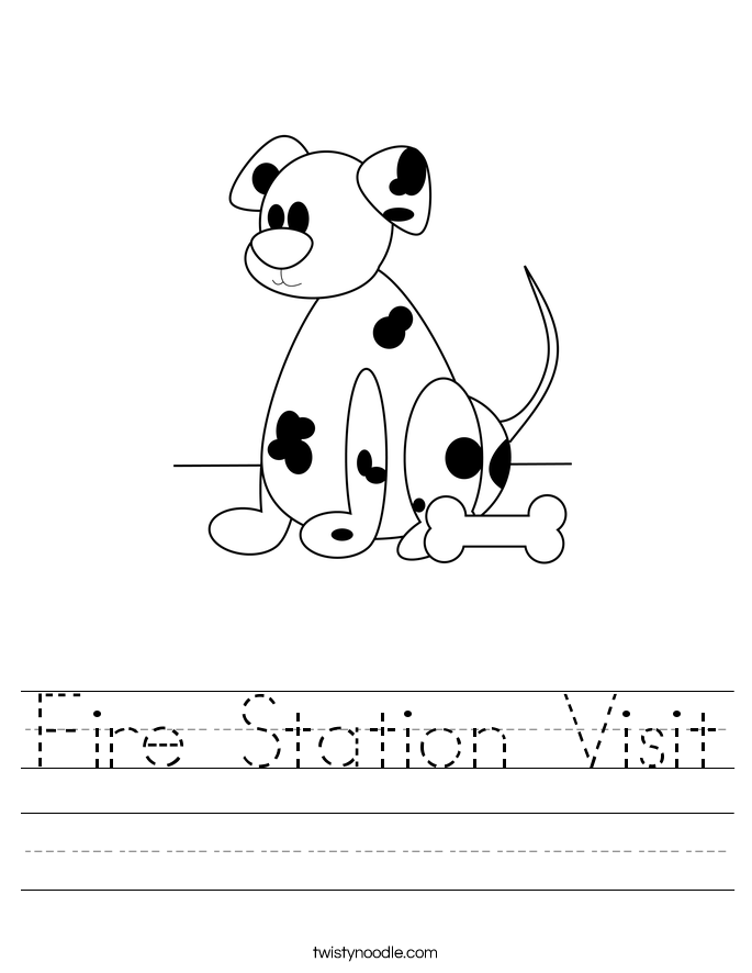 Fire Station Visit Worksheet