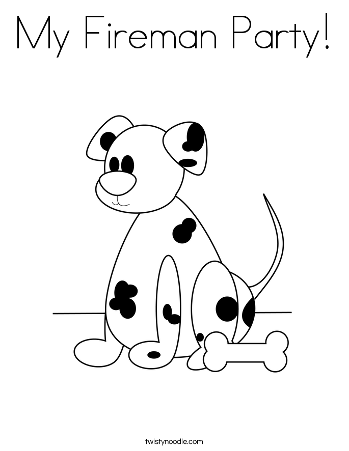 My Fireman Party! Coloring Page