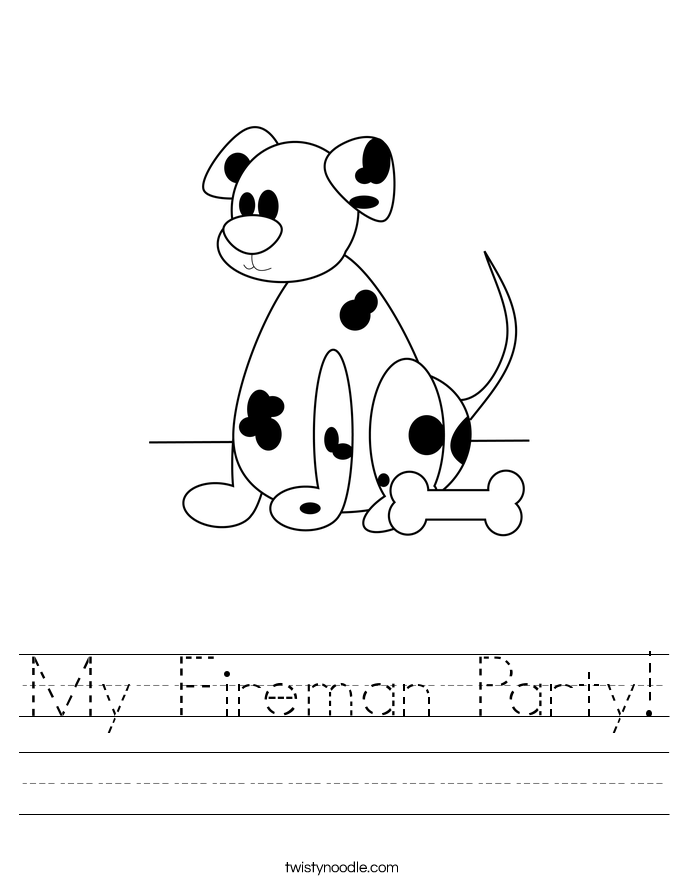 My Fireman Party! Worksheet
