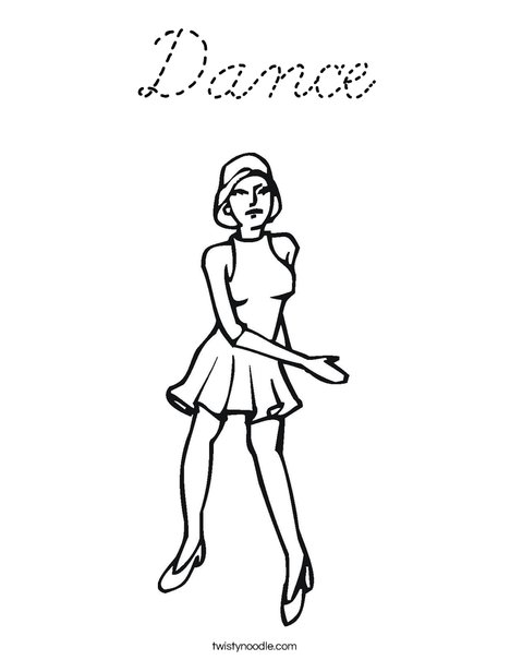 Jazz Dancer Coloring Page