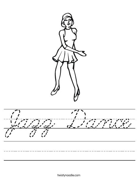 Jazz Dancer Worksheet