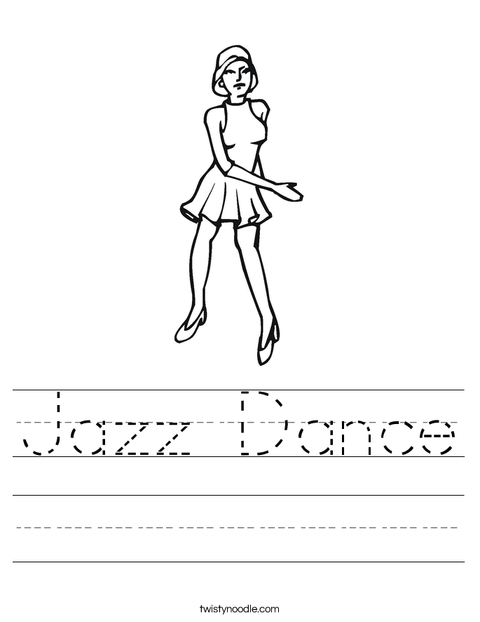 Jazz Dance Worksheet