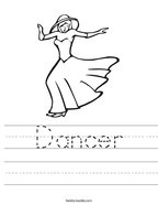 Dancer Handwriting Sheet