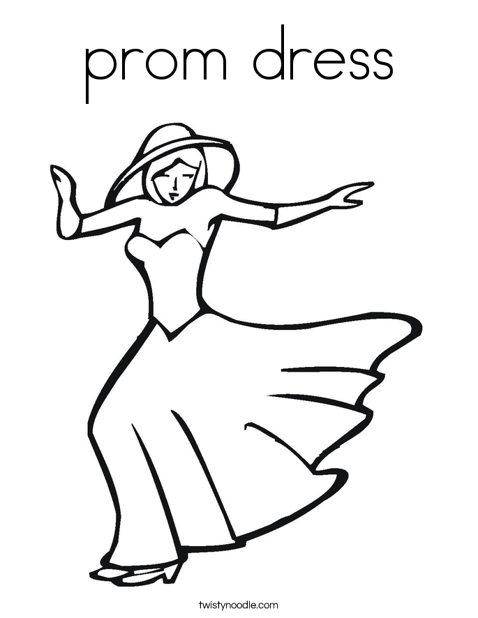 Prom Dress Coloring Pages Prom Dress Coloring Page