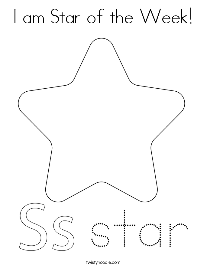 I am Star of the Week! Coloring Page