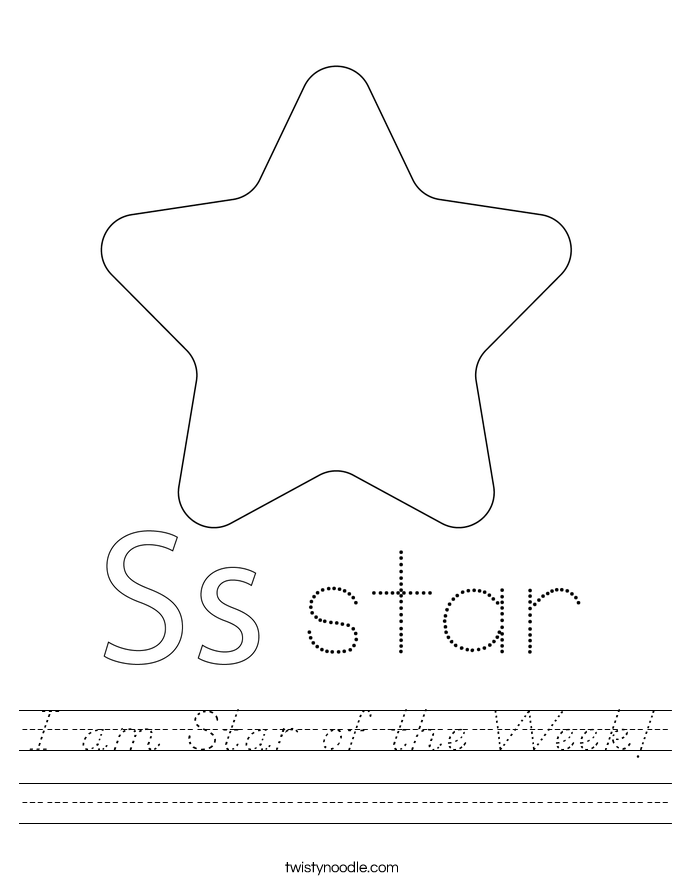 I am Star of the Week! Worksheet