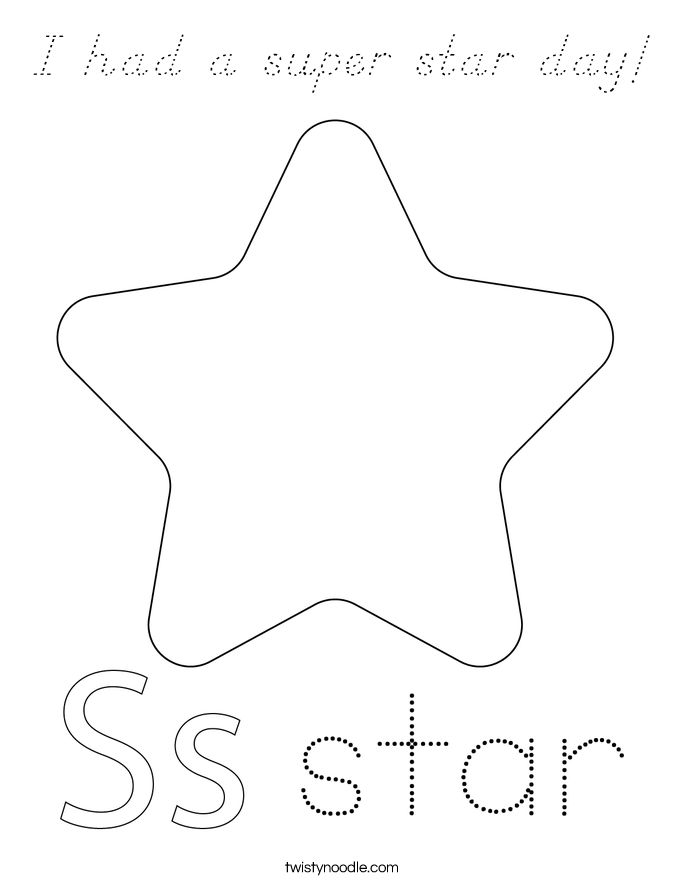 I had a super star day! Coloring Page