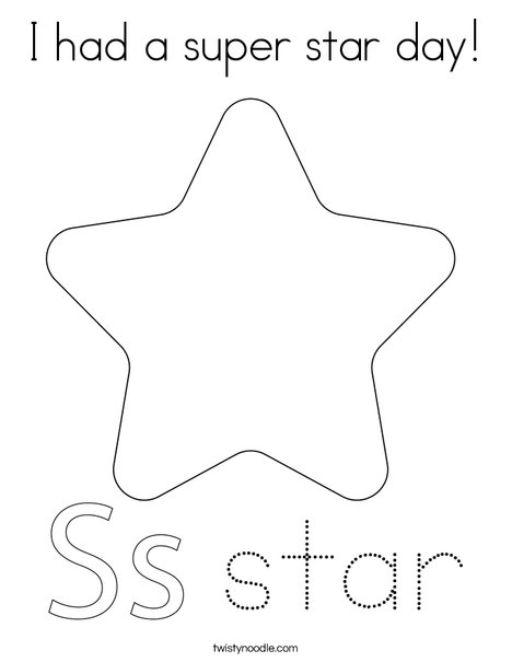 Dancing Star Coloring Page