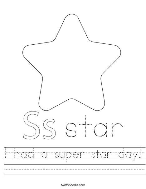 Dancing Star Worksheet