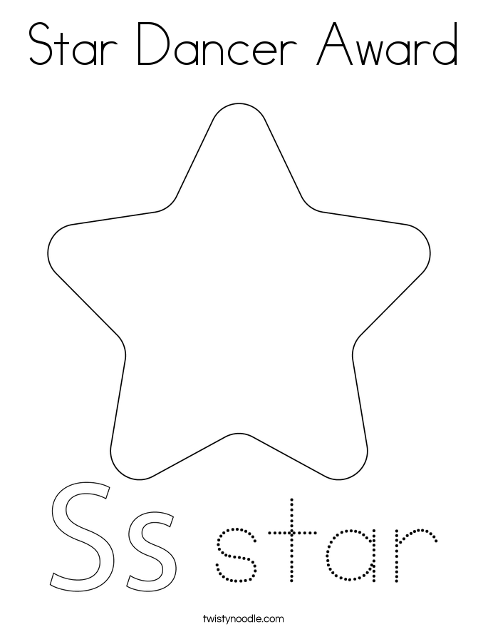 Star Dancer Award Coloring Page
