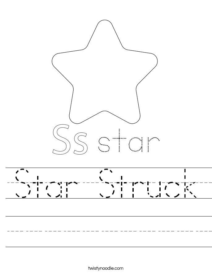 Star Struck Worksheet