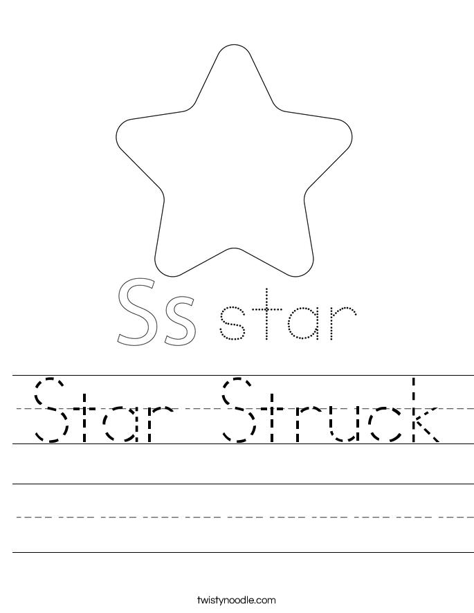 Star Struck Worksheet