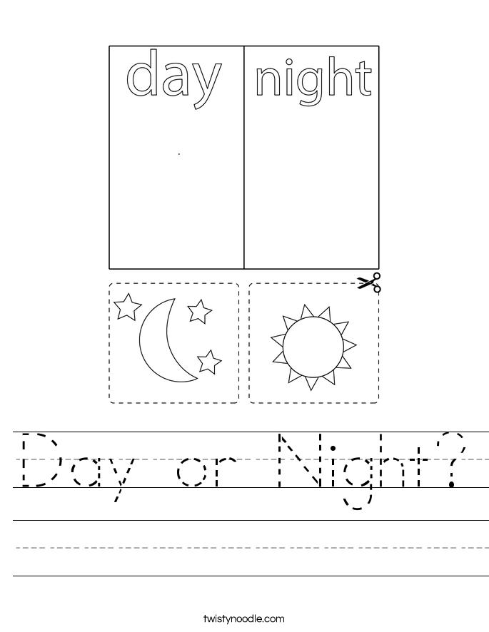 Day or Night? Worksheet