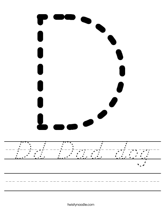 Dd Dad dog Worksheet