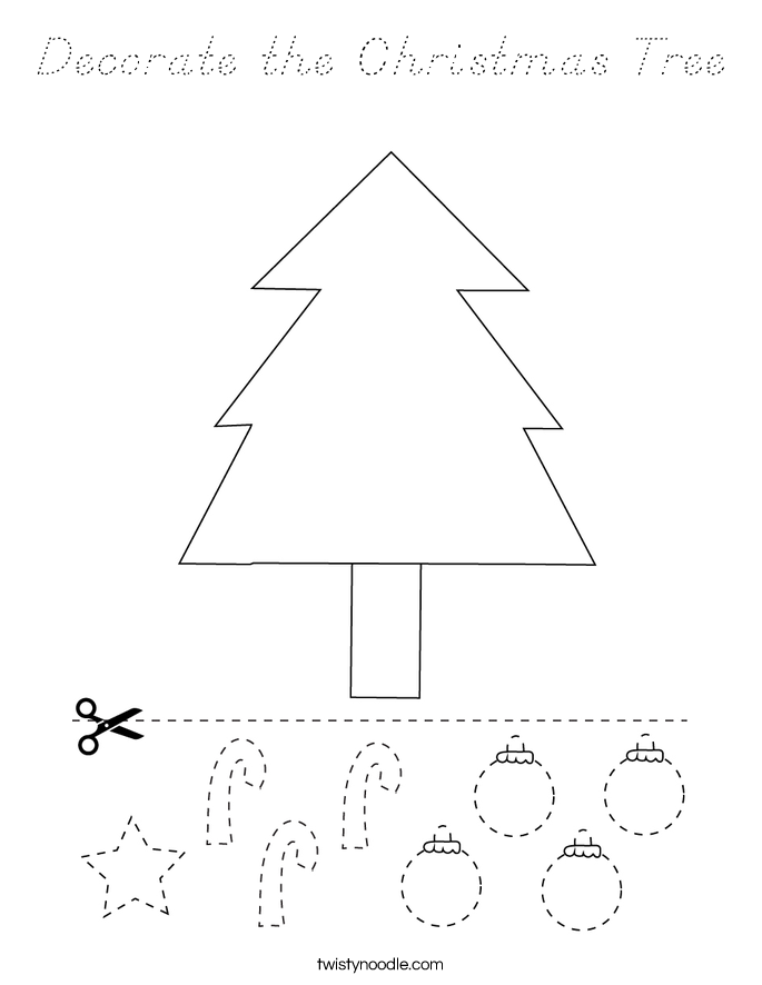 Decorate the Christmas Tree Coloring Page