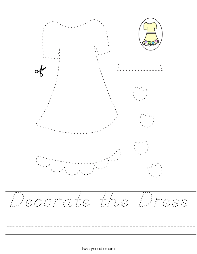 Decorate the Dress Worksheet
