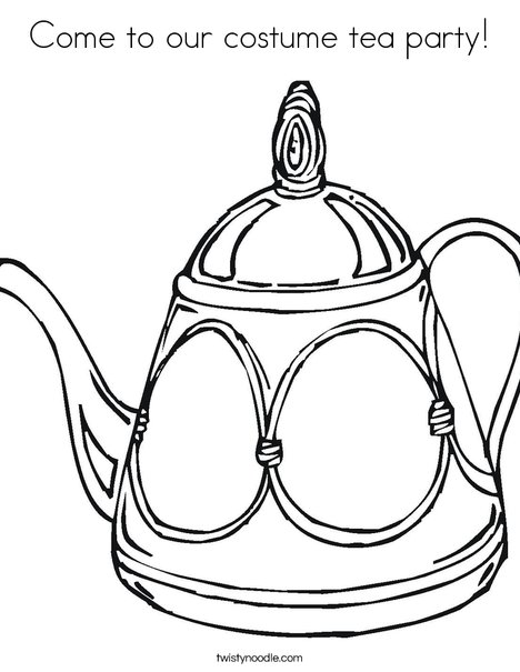 Decorative Teapot Coloring Page