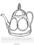Come to our costume tea party! Worksheet