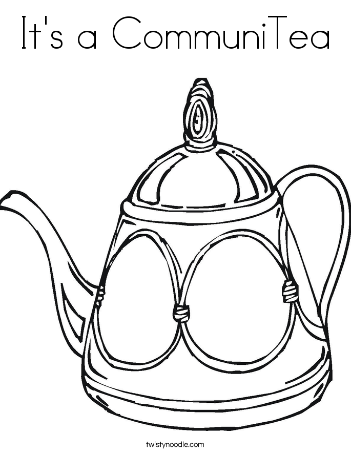 It's a CommuniTea Coloring Page