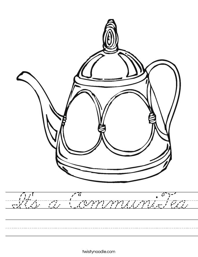 It's a CommuniTea Worksheet