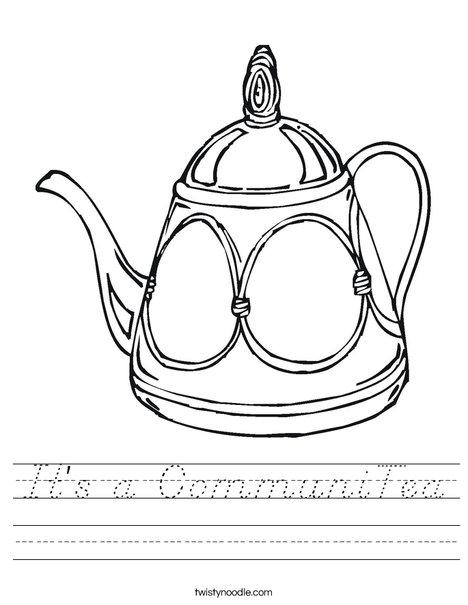Decorative Teapot Worksheet