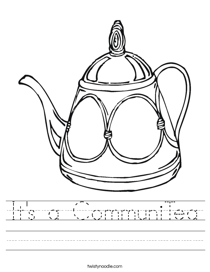 It's a CommuniTea Worksheet
