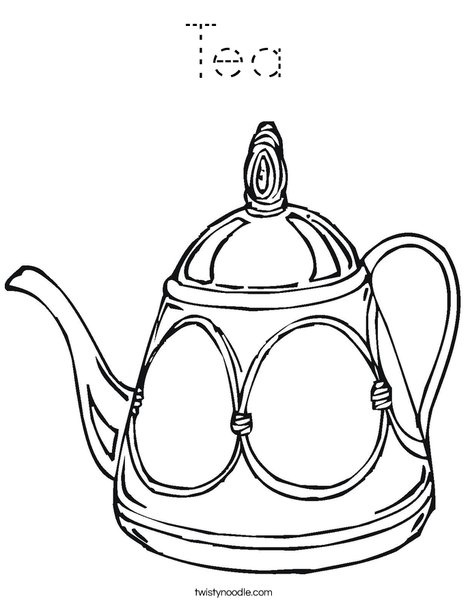 Decorative Teapot Coloring Page
