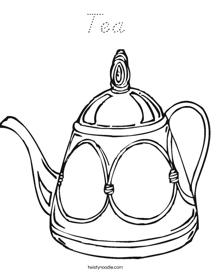 Tea Coloring Page