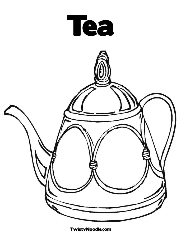 tea coloring pages - photo#10