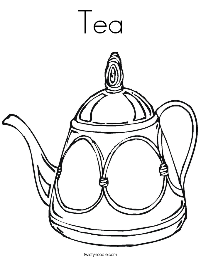 tea cup coloring page - tea cup and saucer drawing sketch coloring page