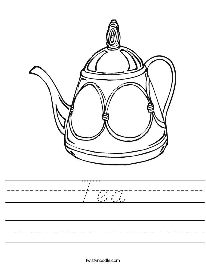 Tea Worksheet
