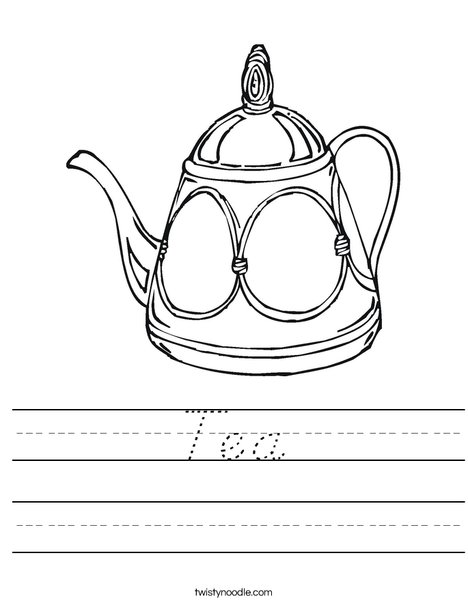 Decorative Teapot Worksheet