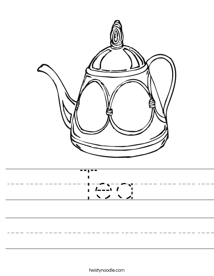 Tea Worksheet