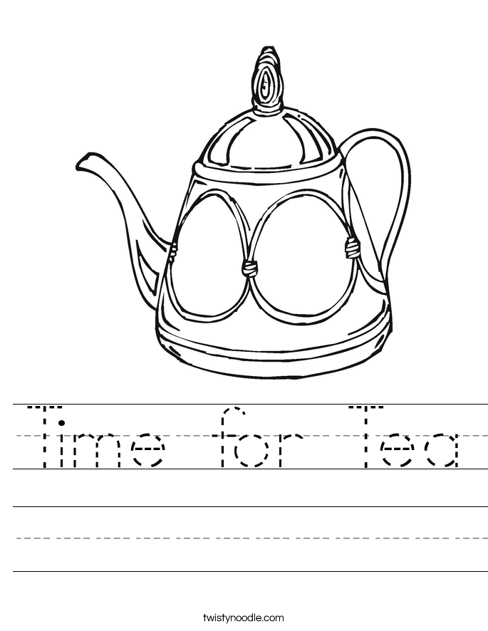 Time for Tea Worksheet
