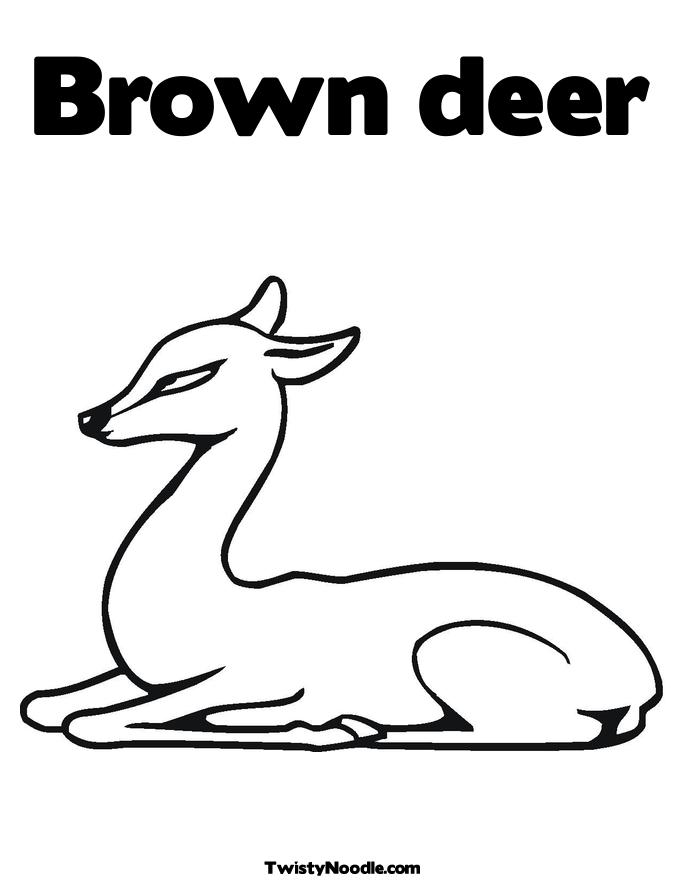 Browning Deer Head Heart Logo Sketch Coloring Page