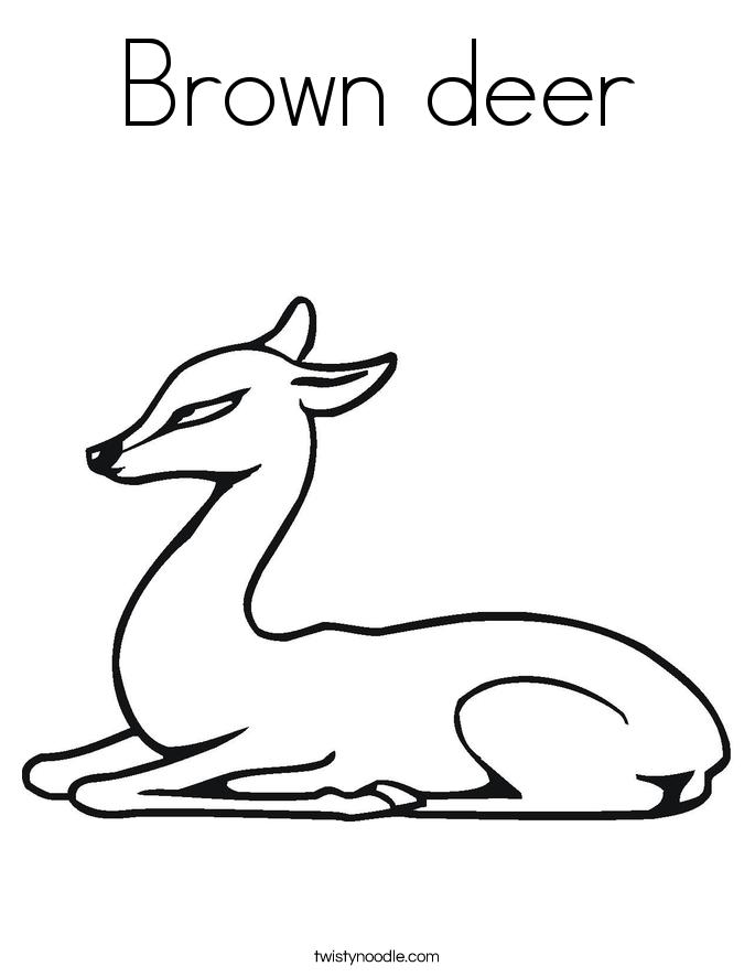 Brown deer Coloring Page