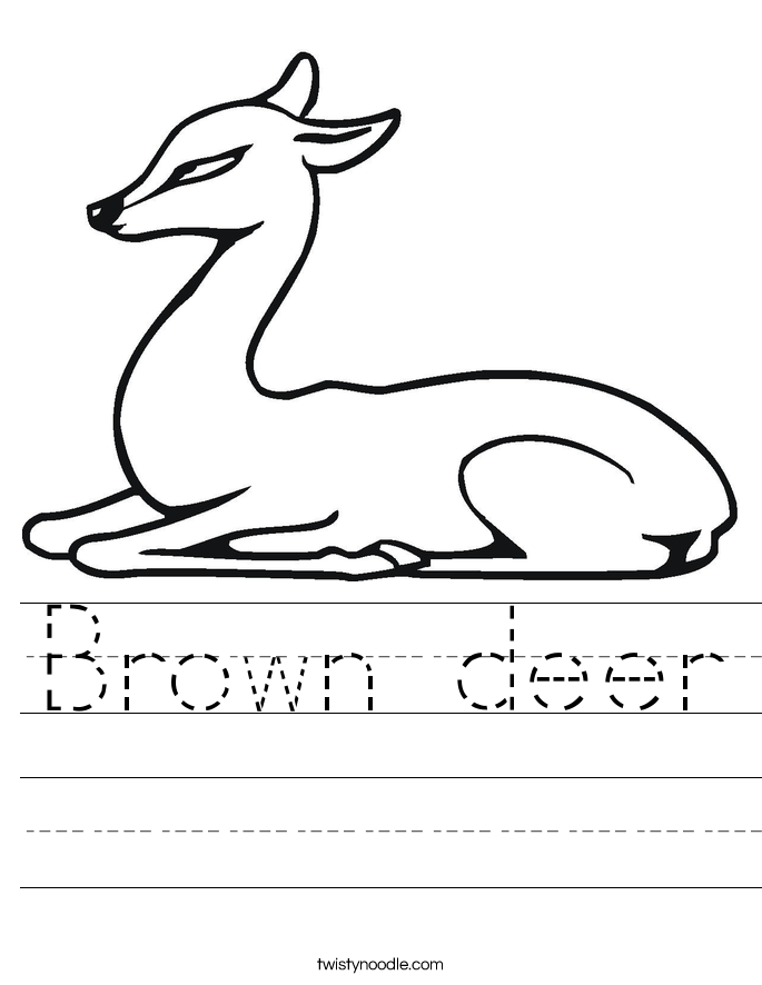 Brown deer Worksheet