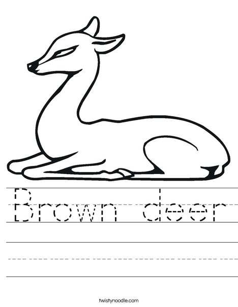 Deer Sitting Worksheet