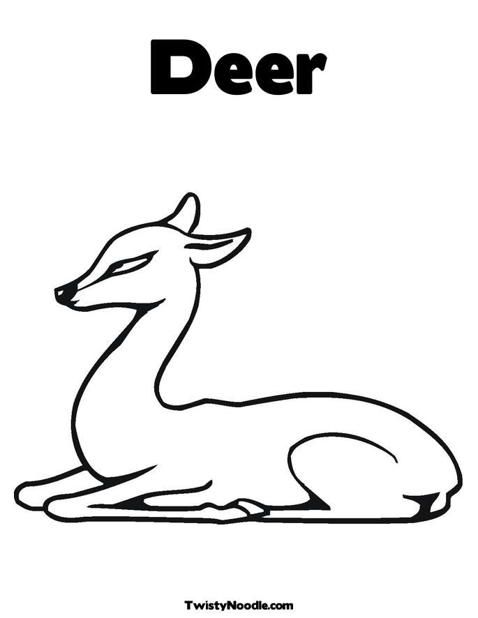 Hunting For The Deer coloring page / picture | Super Coloring