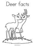 Deer facts Coloring Page