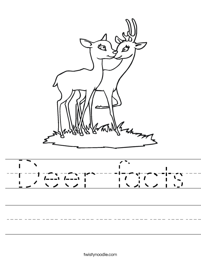 Deer facts Worksheet