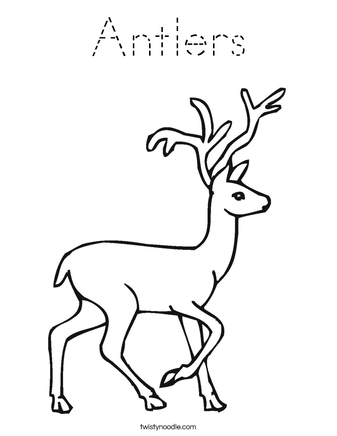 Antlers Coloring Page