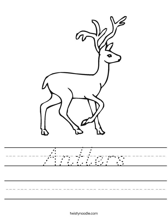 Antlers Worksheet
