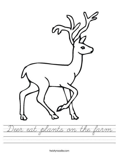 Deer Worksheet