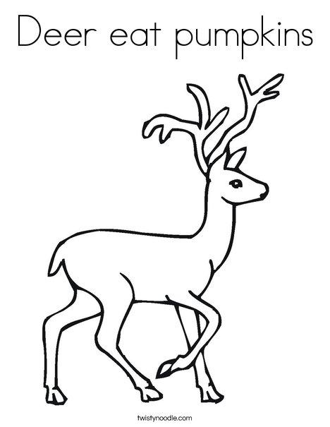 Deer Coloring Page