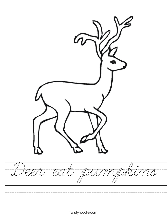 Deer eat pumpkins Worksheet