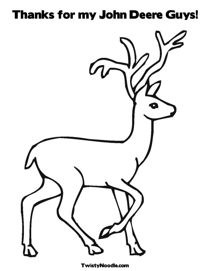 deer picture similar the john deere logo coloring page
