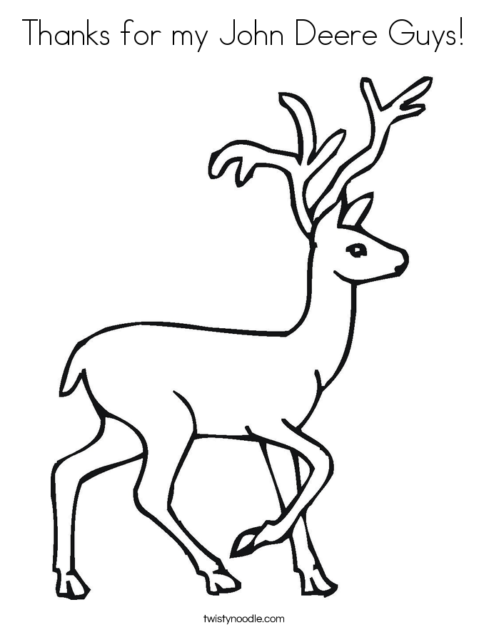 Thanks for my John Deere Guys! Coloring Page