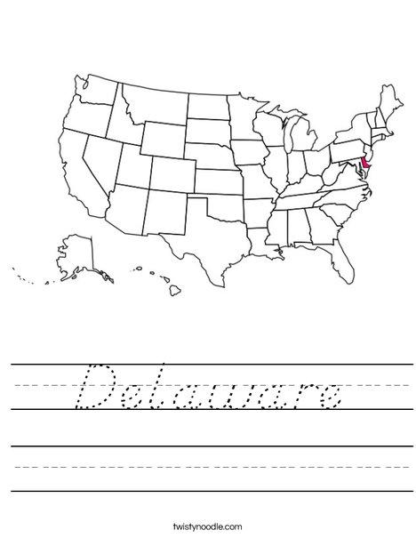 Delaware Worksheet