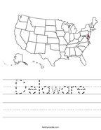 Delaware Handwriting Sheet